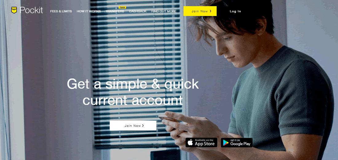 Pockit prepaid card webpage