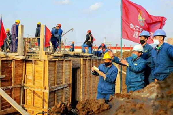 pyongyang construction site