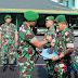 Letkol INF Imam Wicaksana Dandim 0612/Tsm Melepas Personel anggota Kodim 0612/TSM Yang Tergabung Dalam Satgas Apter Kodam XVII/Cendrawasih