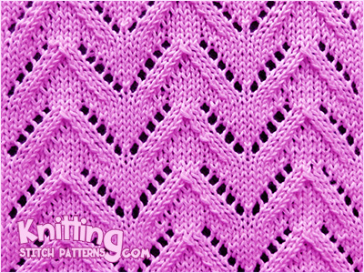 Chevron 3 Knitting Stitch Patterns