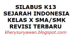 File Pendidikan Silabus k13 Sejarah Indonesia Kelas X SMA/SMK Revisi Terbaru