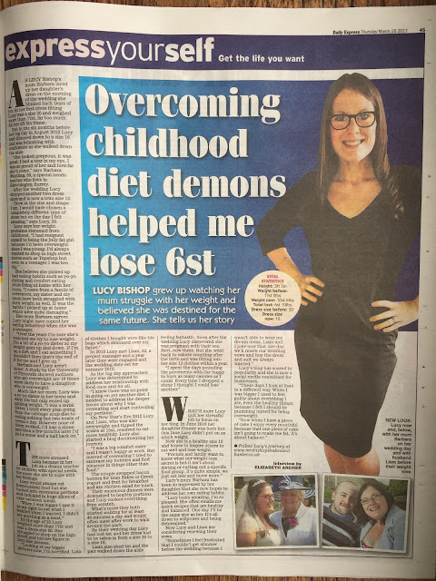 Lucy Bishop 6 stone weight loss story (Daily Express)