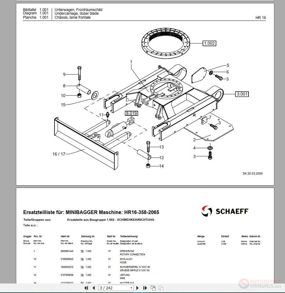 FreeAutoEpcService: Terex Schaeff Parts Manuals Full Set