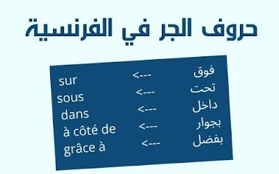 حروف الجر في اللغة الفرنسية للمبتدئين