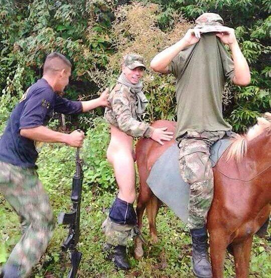soldado le mete el pene  a una mula
