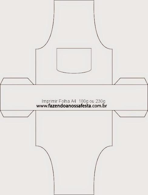 Caja con Forma de Delantal para Imprimir Gratis