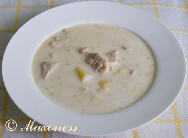 Сливочный гороховый суп с курицей