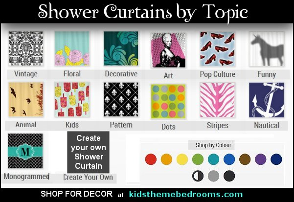 shower curtains - fabric shower curtains - novelty shower curtains - bathroom decor - novelty bathroom accessories bathrooms - glam bathrooms - girly bathrooms - mermaid bathrooms - novelty shower curtains -