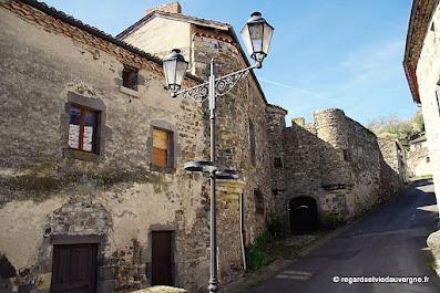 Village de Montaigut-le-Blanc, Puy-de-Dôme, Auvergne.
