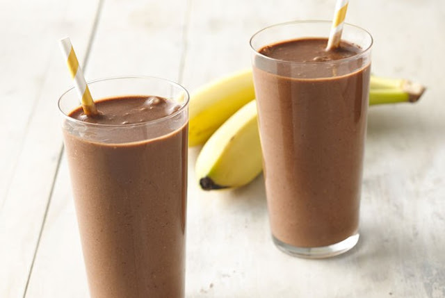 Healthy Chocolate Banana Smoothie #drinks #smoothies
