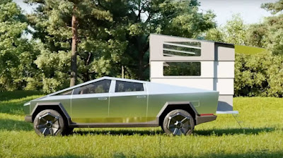 Car News Cyber Lander introduced; An attractive camper for Tesla cyber truck owners