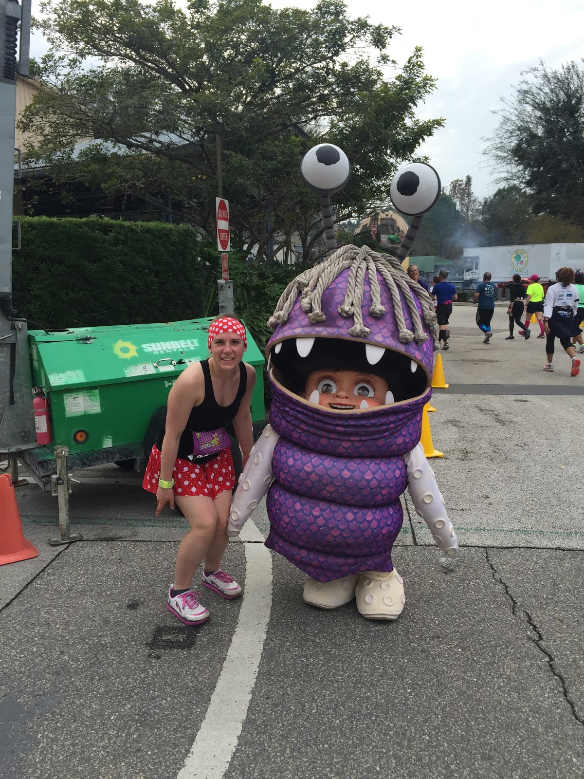Dopey Challenge Mickey Marathon 2016 Ran into Boo from Monsters Inc