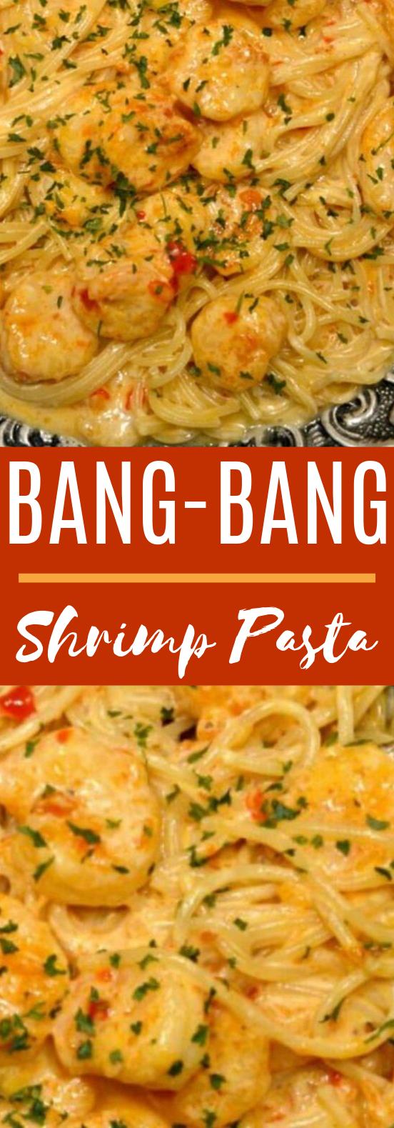 Bang Bang Shrimp Pasta #dinner #pasta