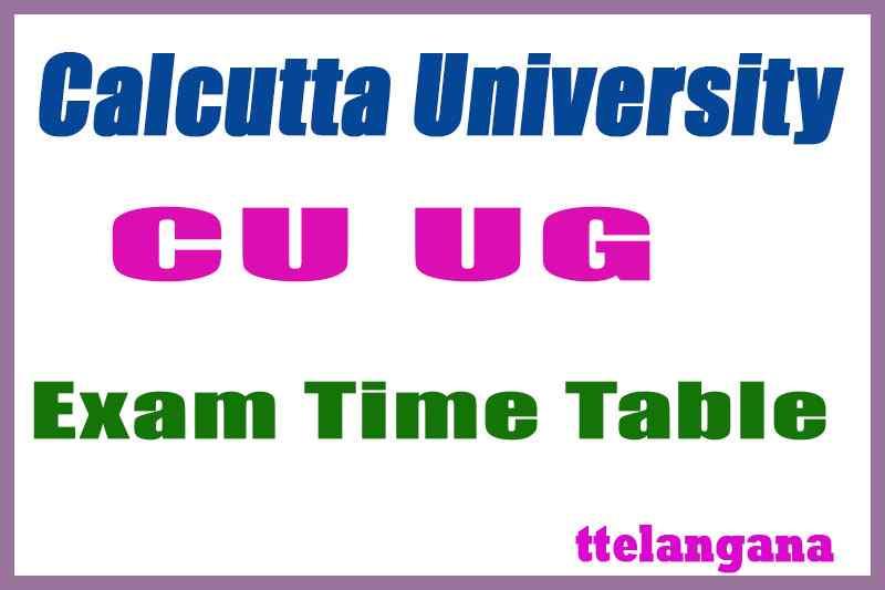 Calcutta University Exam Time Table  Result