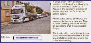 livraisons d'armes par les services secrets turcs à des groupes islamistes en Syrie