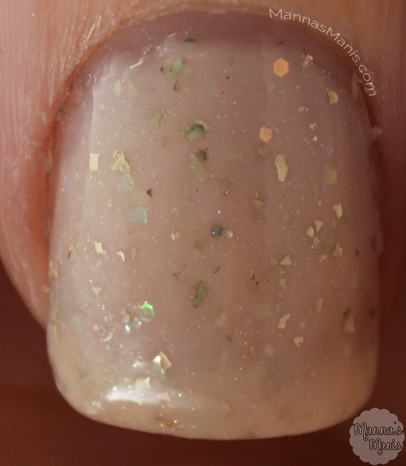 Macro shot of Ingrid, a nude polish from indie Glam Glaze