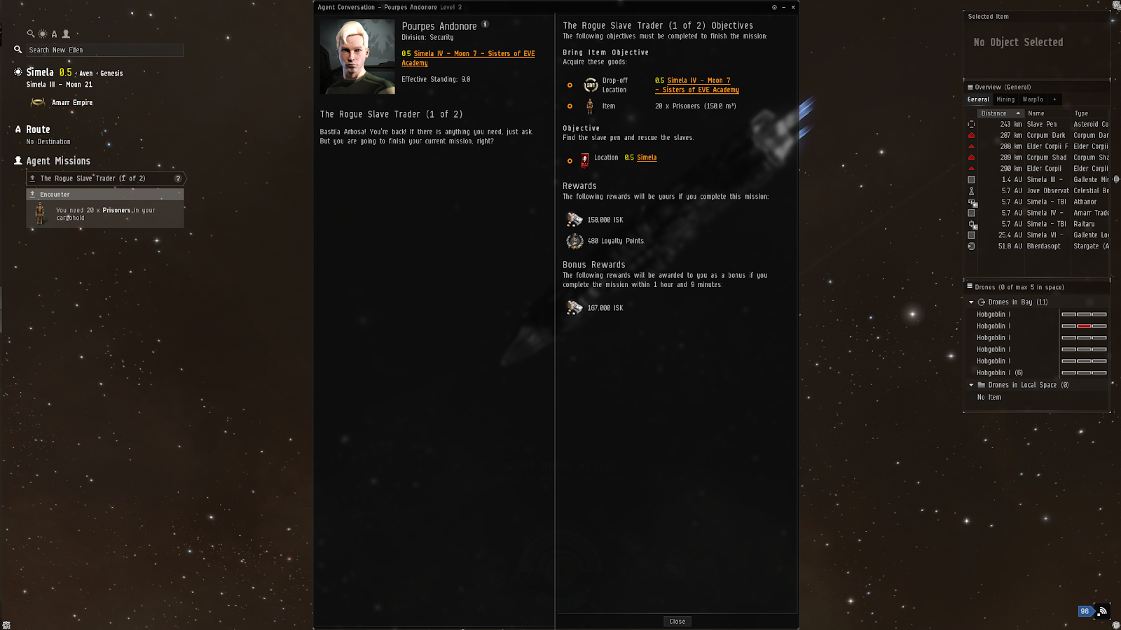 The Rogue Slave Trader (1/2) - EVE online Security Mission Level 3