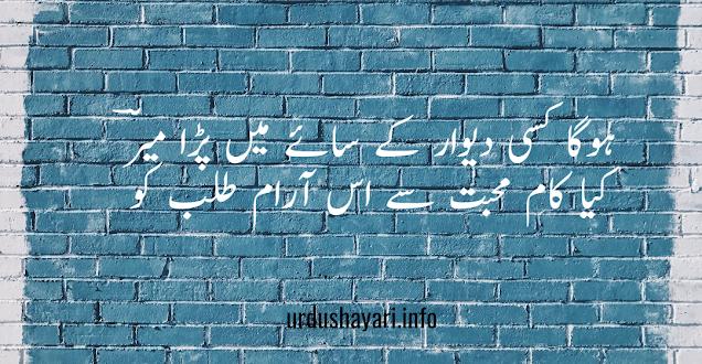 Hoga Kisi Deewar K Saaye Mai Para Mir - Mir taqi mir shayari - 2 lines urdu poetry image