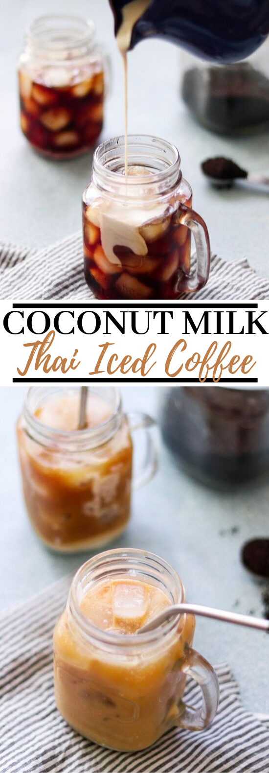Coconut Milk Thai Iced Coffee #drinks #coffee
