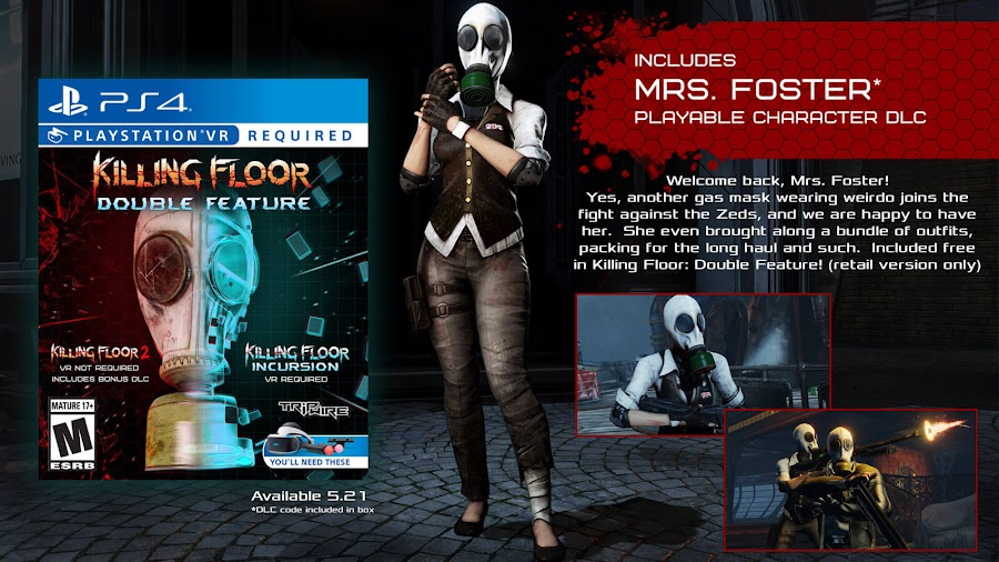 killing floor double feature ps4 vr mrs foster playable dlc character