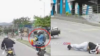 VIDEO: Intentó recuperar la moto que le robaron y lo mataron