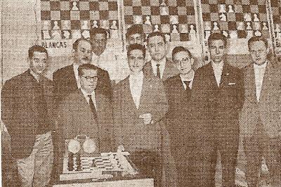 El equipo de ajedrez del Español en 1960