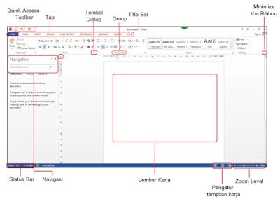 Tampilan Microsoft Word 2016