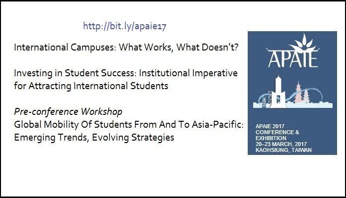 Presenting thought leadership workshop at APAIE on international branch campus and student success