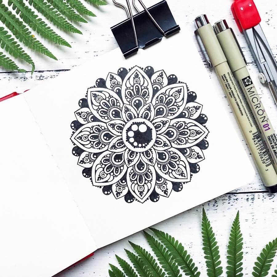12-Ksenya-Gromova-Ink-Mandala-and-Flower-Drawings-www-designstack-co