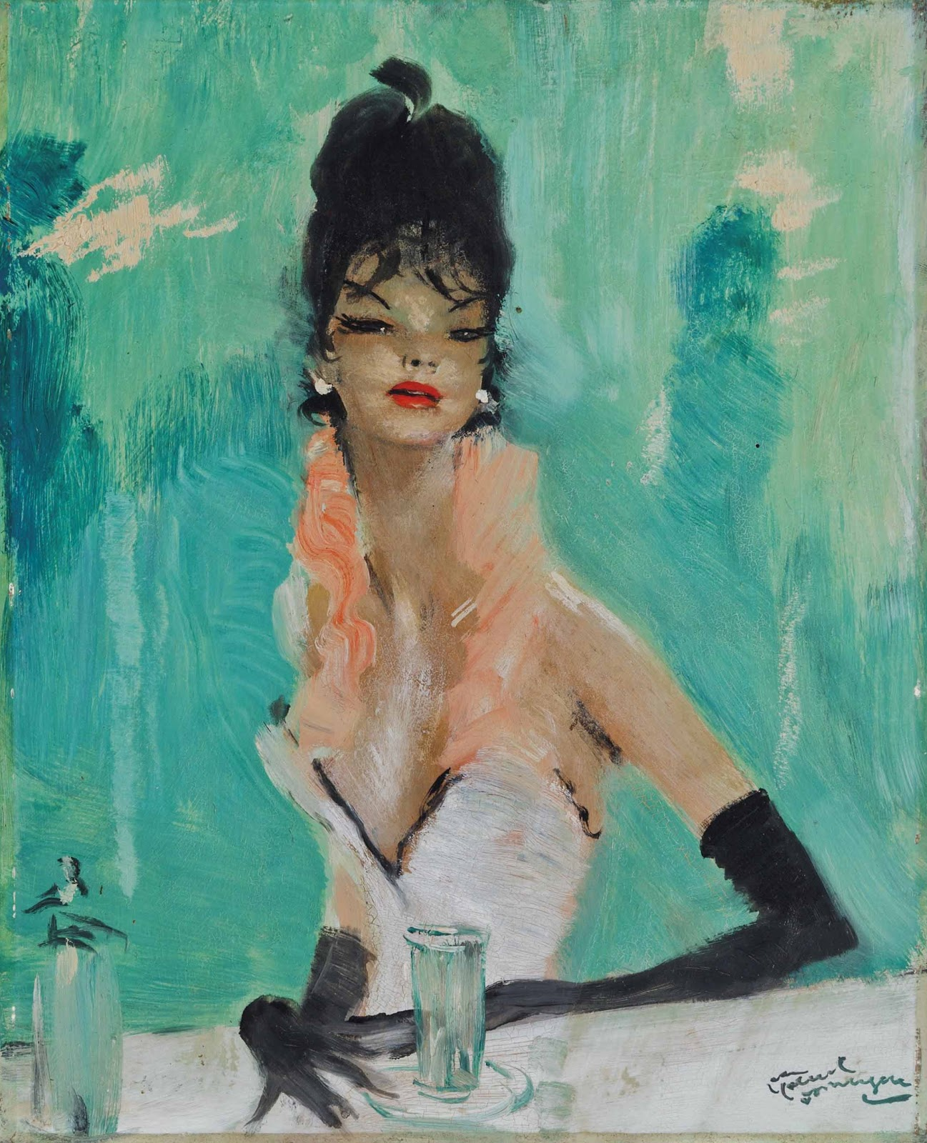 Jean Gabriel Domergue Femme elegante