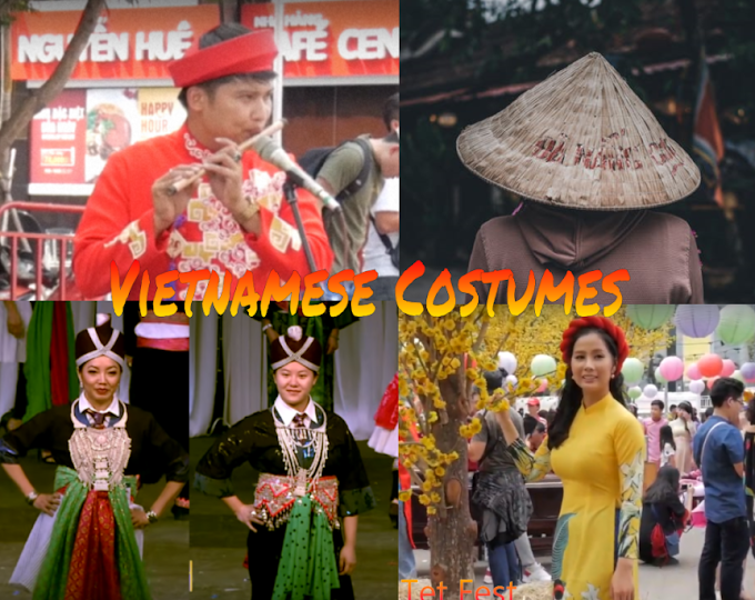 Vietnamese lunar new year Costumes (Tet Festival Costumes)