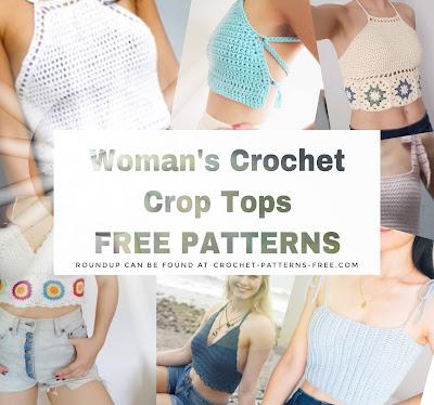 Free woman's Crochet summer crop top patterns
