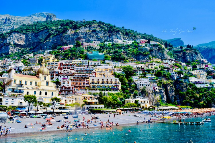 Positano, Italy, one of the world's most picturesque beaches | Ms. Toody Goo Shoes