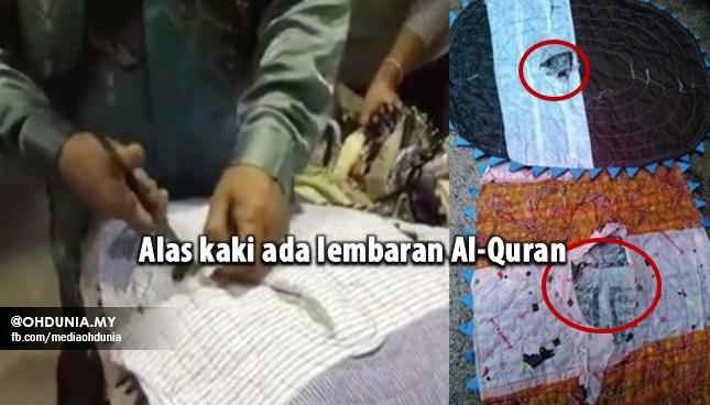 Kurang Ajar!!.. Alas Kaki Ada Lembaran Al-Quran Dirampas