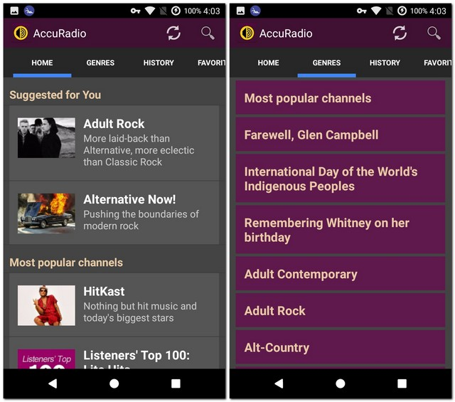 free radio app for android