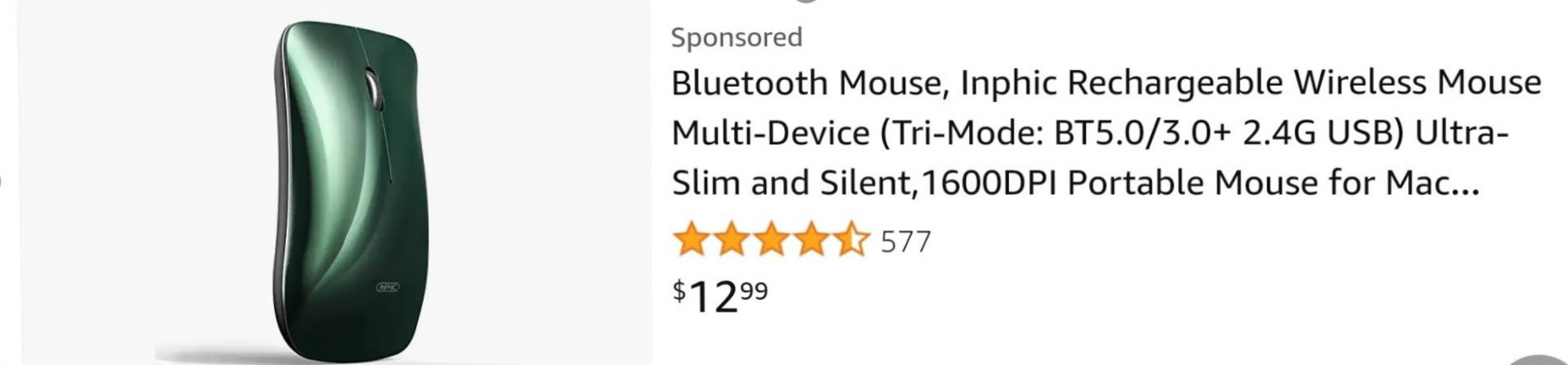 INPHIC Slim Sexy Rechargeable Bluetooth Mouse