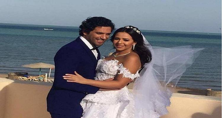 الصورة الأولى لحسن الرداد و إيمي سمير غانم بعد حفل الزفاف صادمة