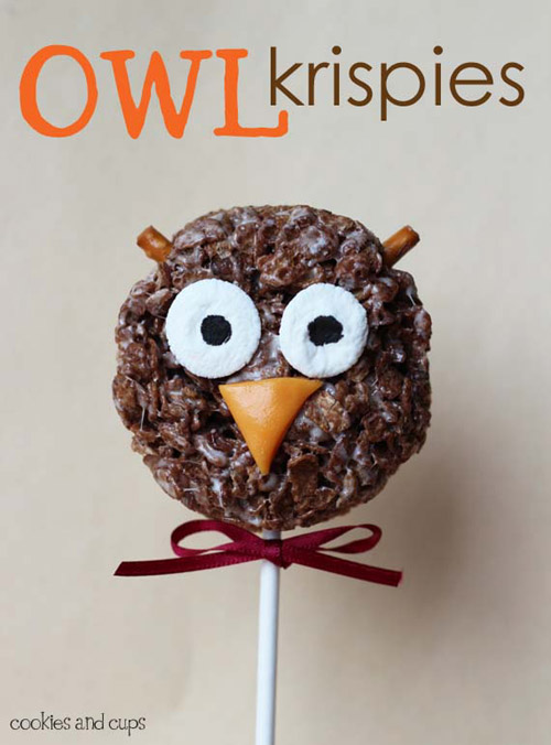 My Owl Barn Owl Amp Spider Krispie Treats