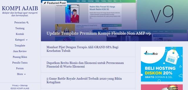 Tampilan situs www.kompiajaib.com;Kompi Ajaib yang Ajaib dari Adhy Suryadi;Kompi Ajaib Template Blog Ajaib untuk Menaikkan Trafik;Kompi Ajaib Tempat Belajar Blog Terbaik;