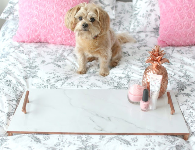 marble copper tray diy