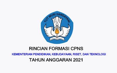 Formasi CPNS Kementerian Pendidikan, Kebudayaan, Riset dan Teknologi Tahun 2021