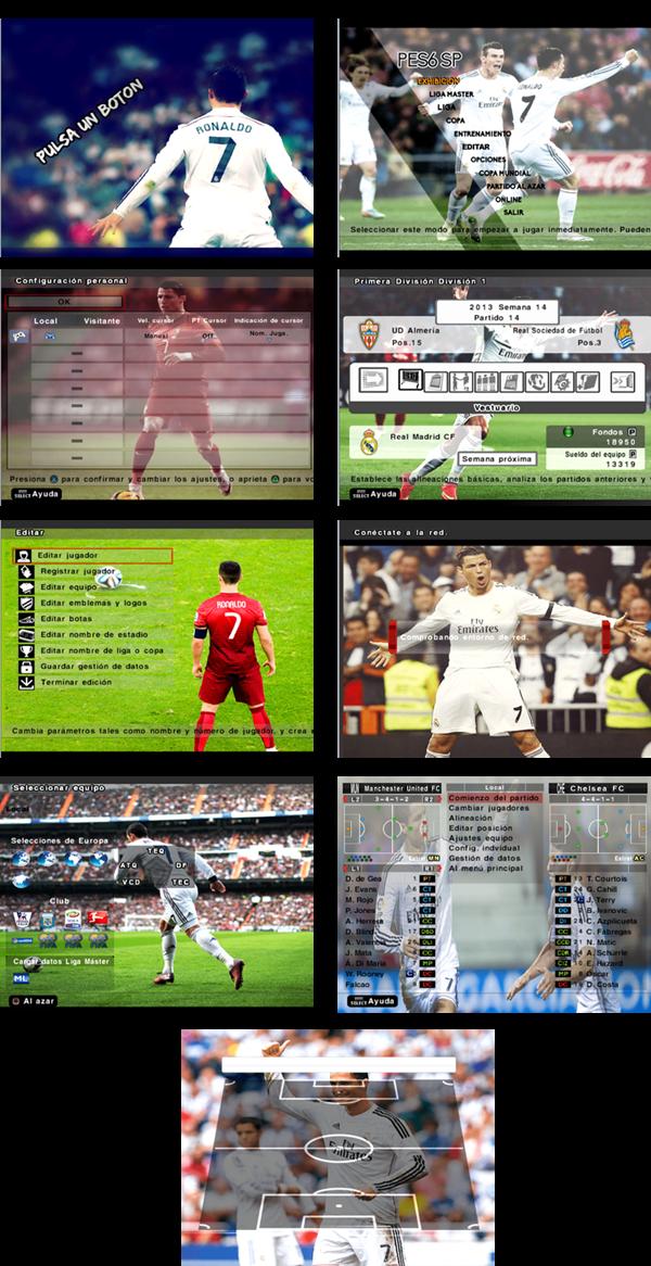 Menu (E_Text) Cristiano Ronaldo For Pes6