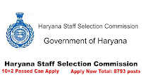 "Haryana Staff Selection Commission ""HSSC"" Recruitment 2015"