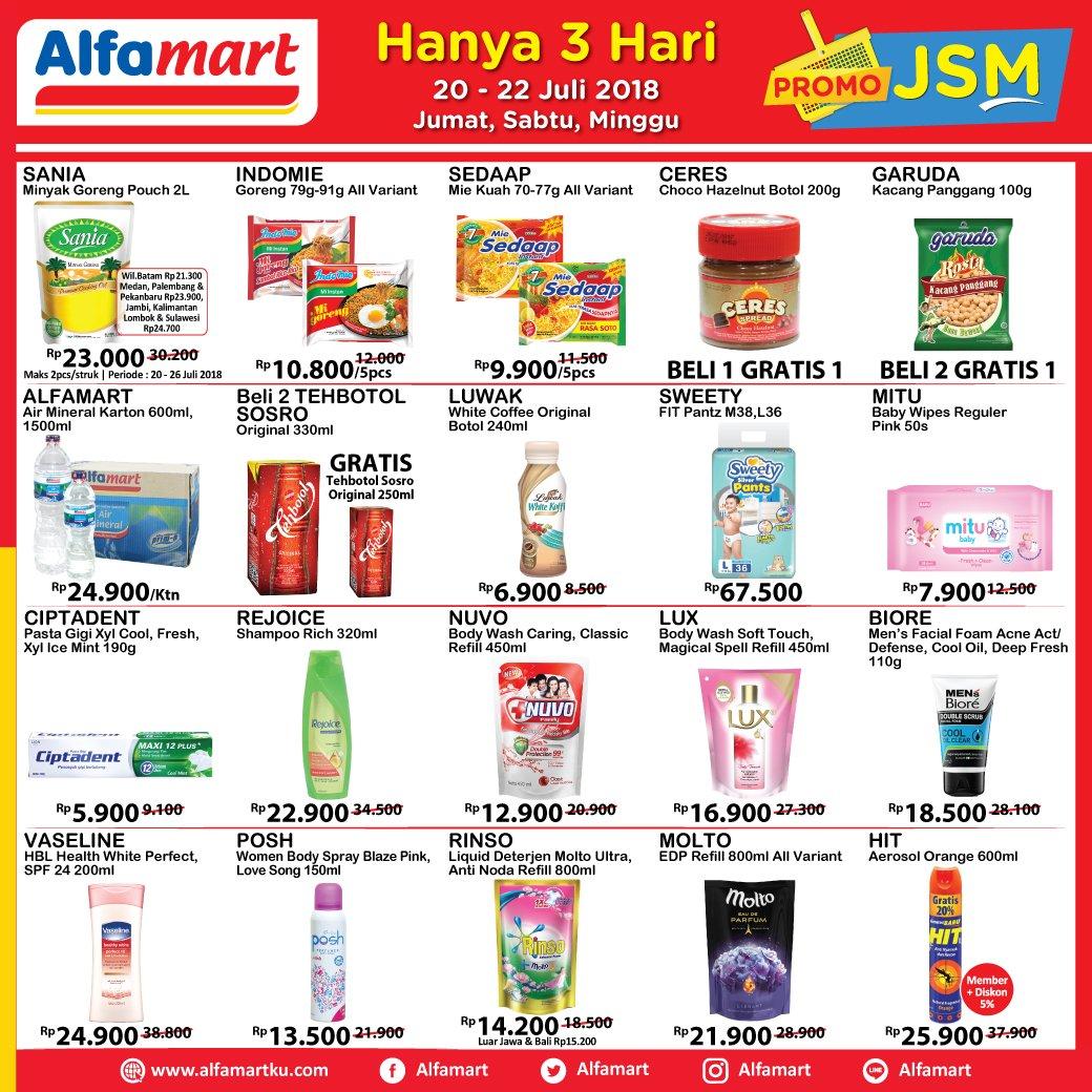 Alfamart - Katalog 3 Hari JSM (20 - 22 Juli 2018)