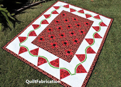 watermelon wedges in a quilt border