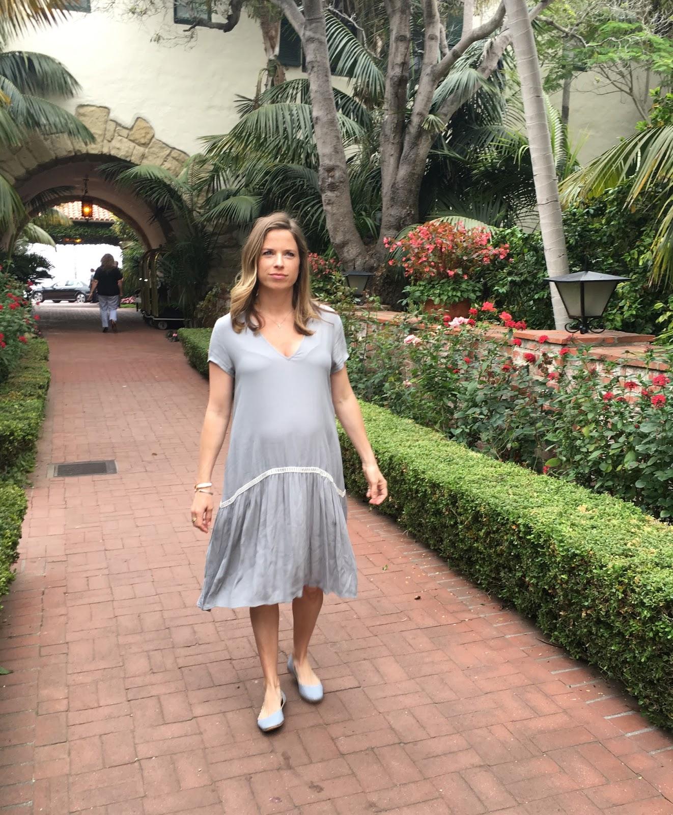 maternity drop waist dress