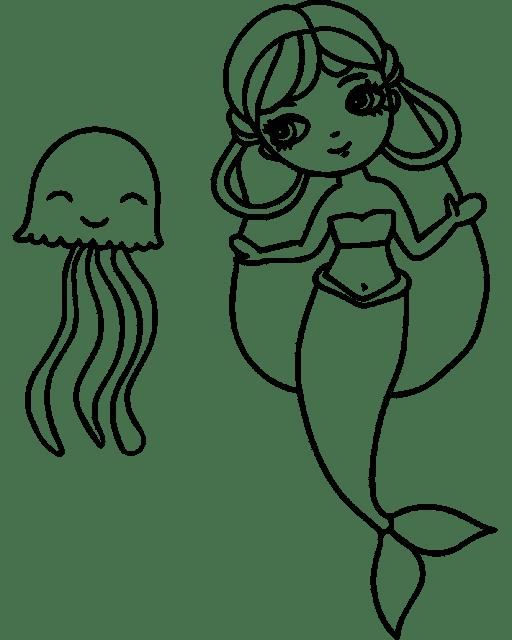 رسومات للتلوين حورية البحر