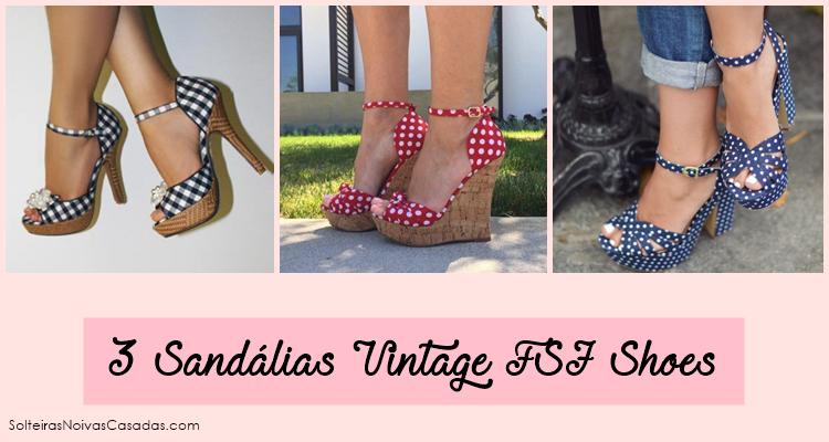 ee974d8d3 3 Sandálias Vintage FSJ Shoes