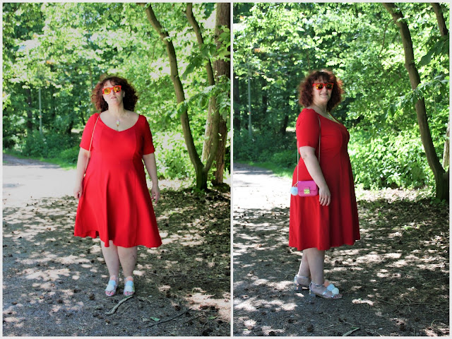 rotes Kleid, Furla, Tatty Devine, Ü50 Mode, Ü50 Blog, Ü30 Blogger, 50+