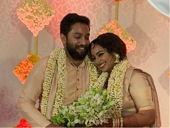 Actresss Mridula Murali with her husband Nithin Vijay